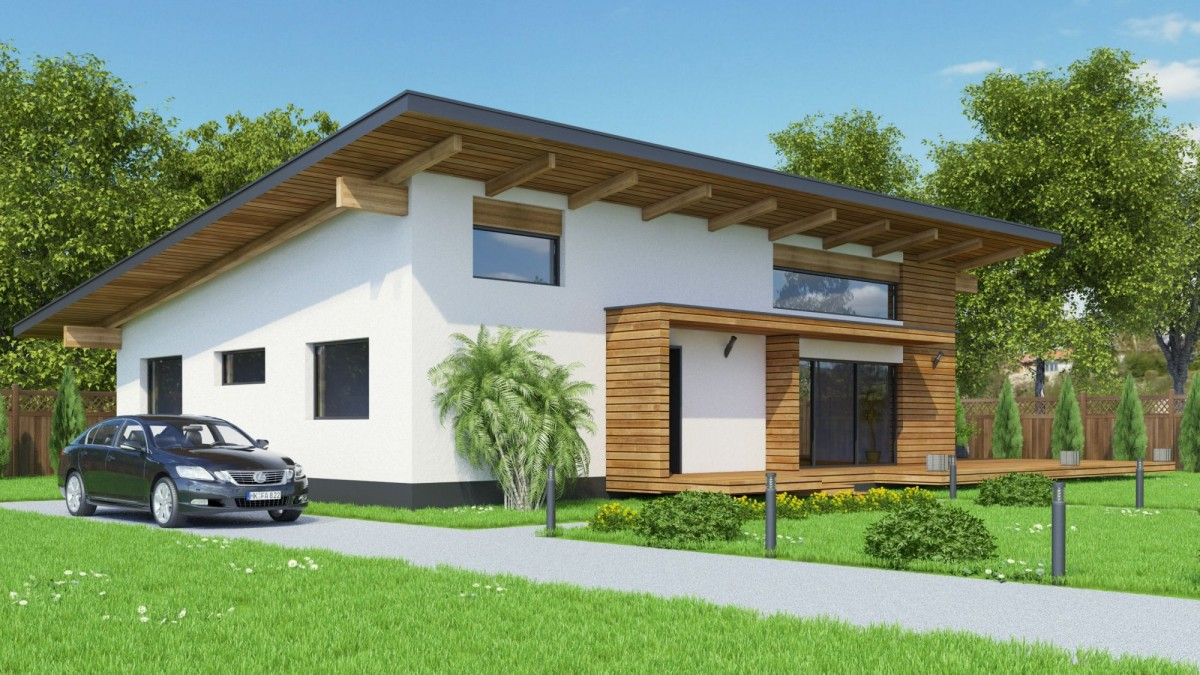 Plan maison contemporaine bc 7 140m2 for Maison contemporaine 140m2