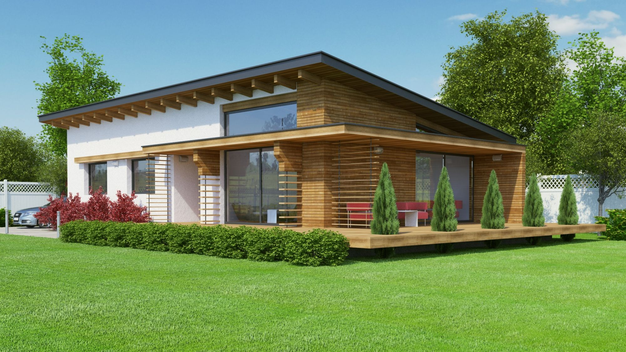 Exceptionnel Plan maison contemporaine BC-10-100m2 YS92