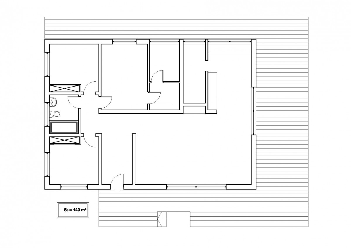 Plan maison contemporaine bc 7 140m2 for Maison dans un plan de maison
