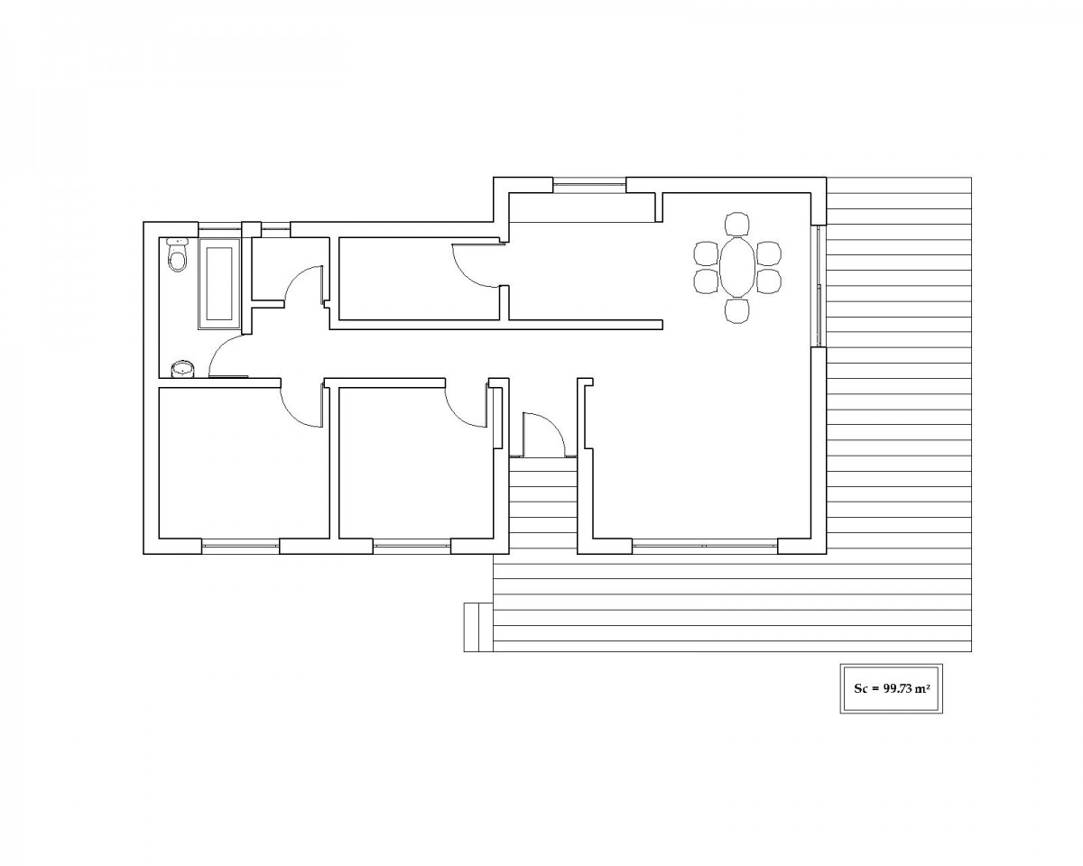 Plan maison contemporaine bc 10 100m2 for Plan maison contemporaine 100m2