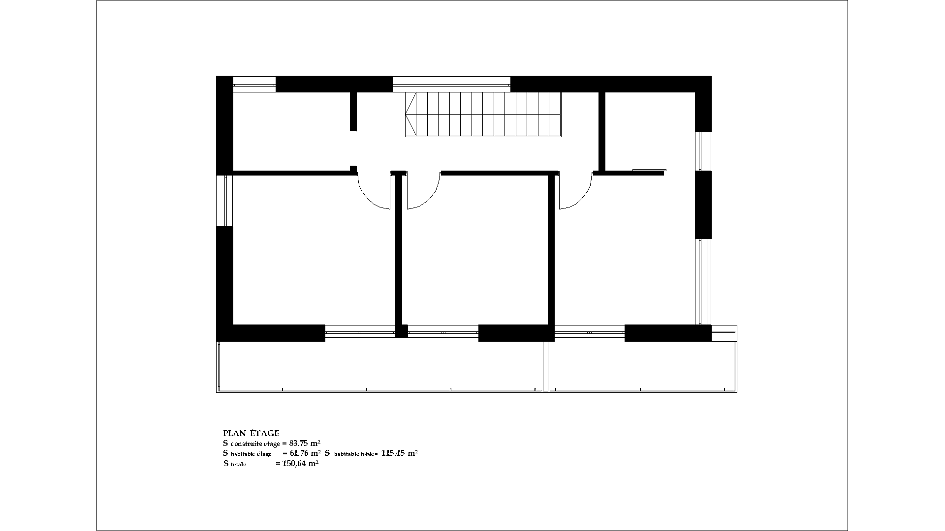 Casa moderna plan is 10 150m2 for Maison rectangle contemporaine