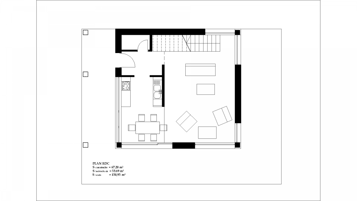 Bevorzugt Contemporary House plan IS-10-150m2 RQ62