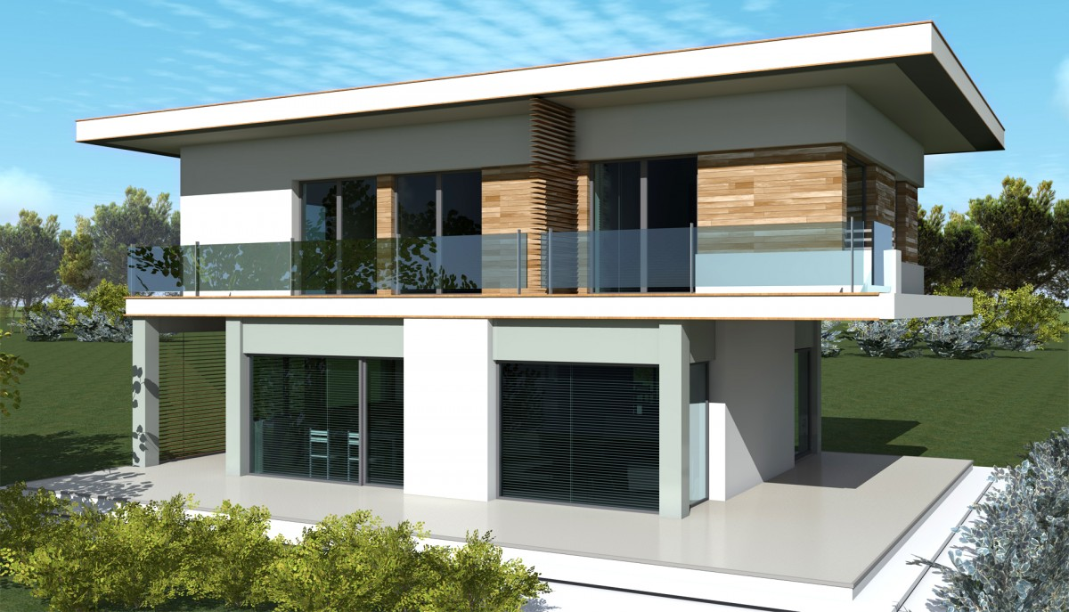 Plan maison contemporaine is 10 150m2 for Prix maison 150 m2