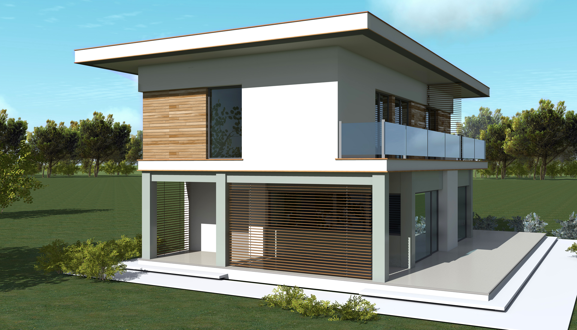 Casa moderna plan is 10 150m2 for Casas modernas de 95 m2