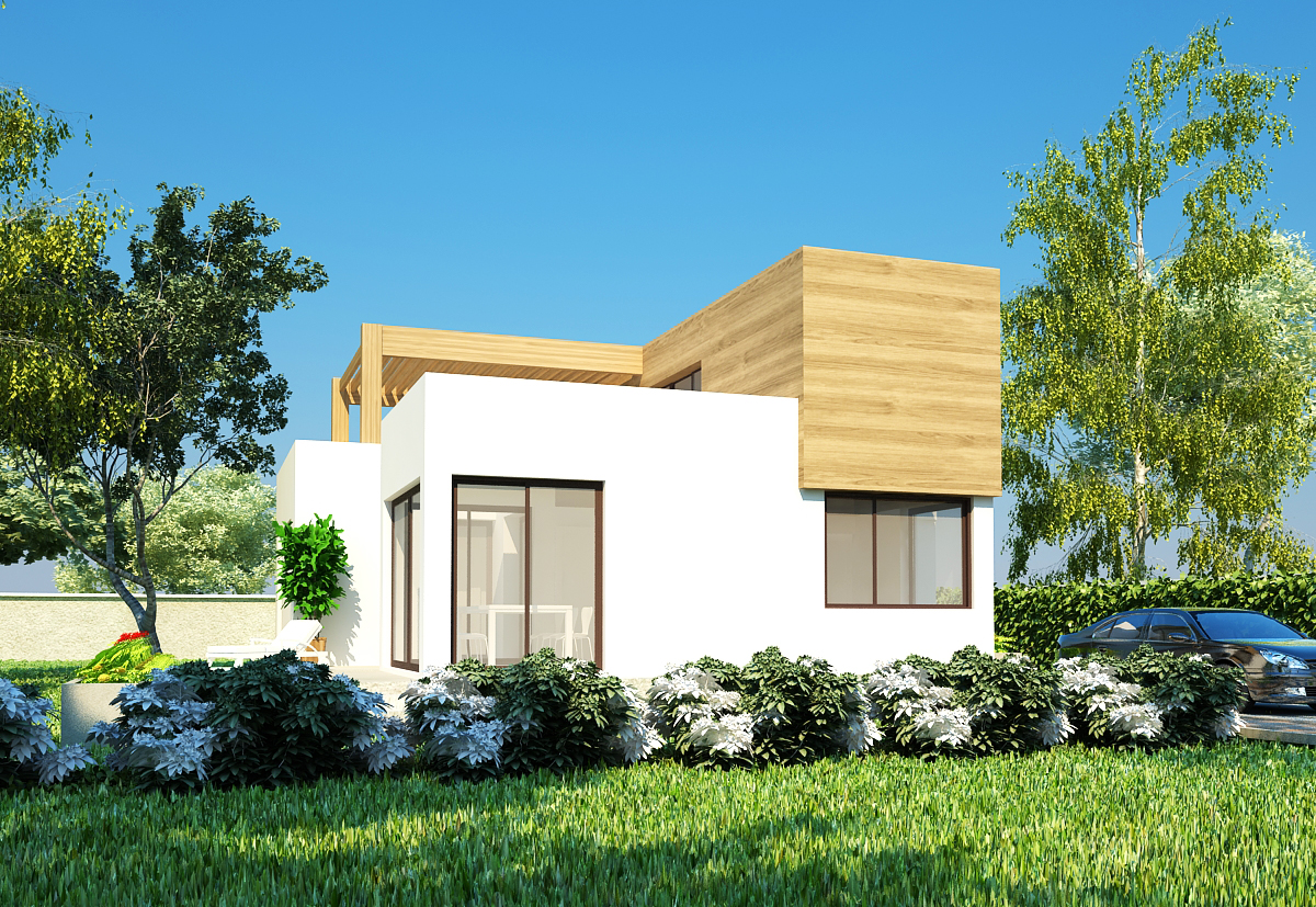 Plan maison contemporaine b 1 173m2 for Plans maisons contemporaine