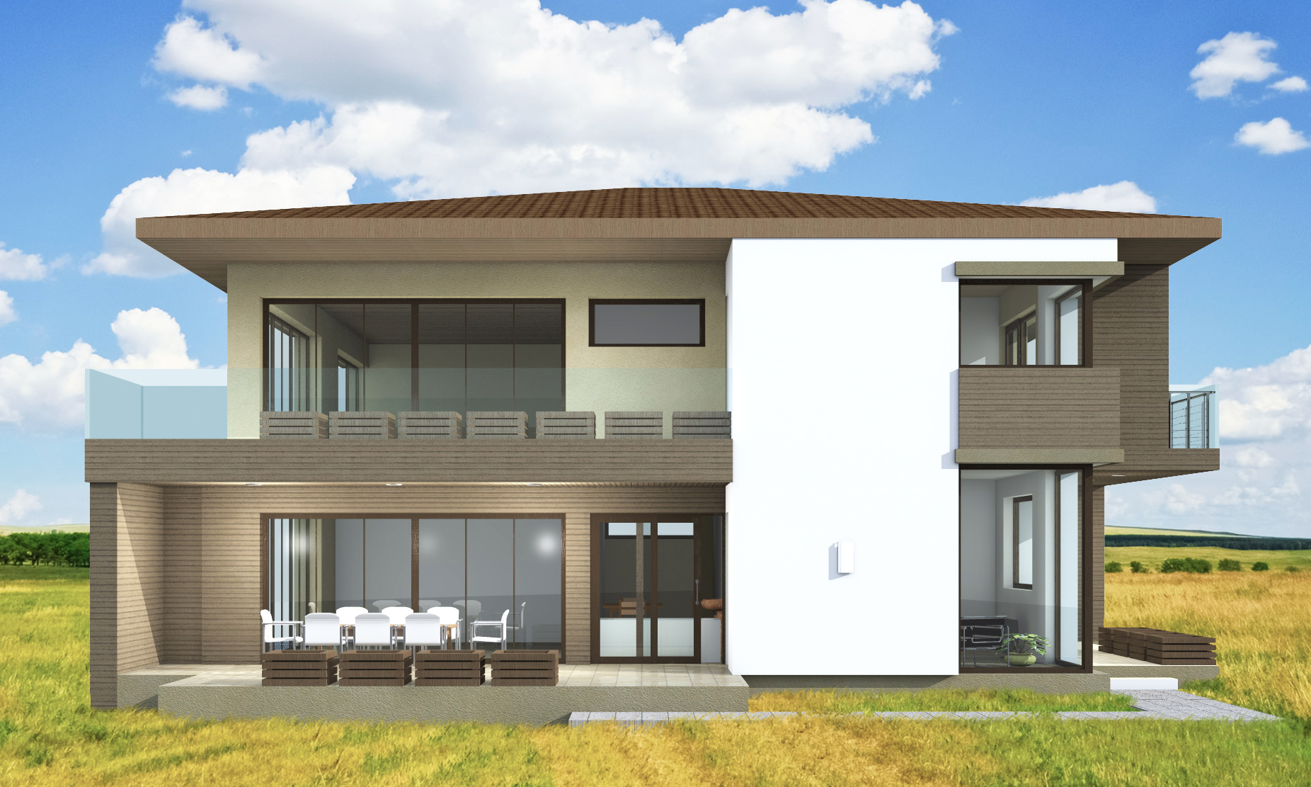 Plan maison contemporaine CJ5190m2