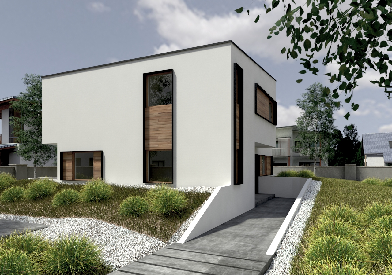 Plan maison contemporaine bz 13 156m2 for Plans maisons contemporaine