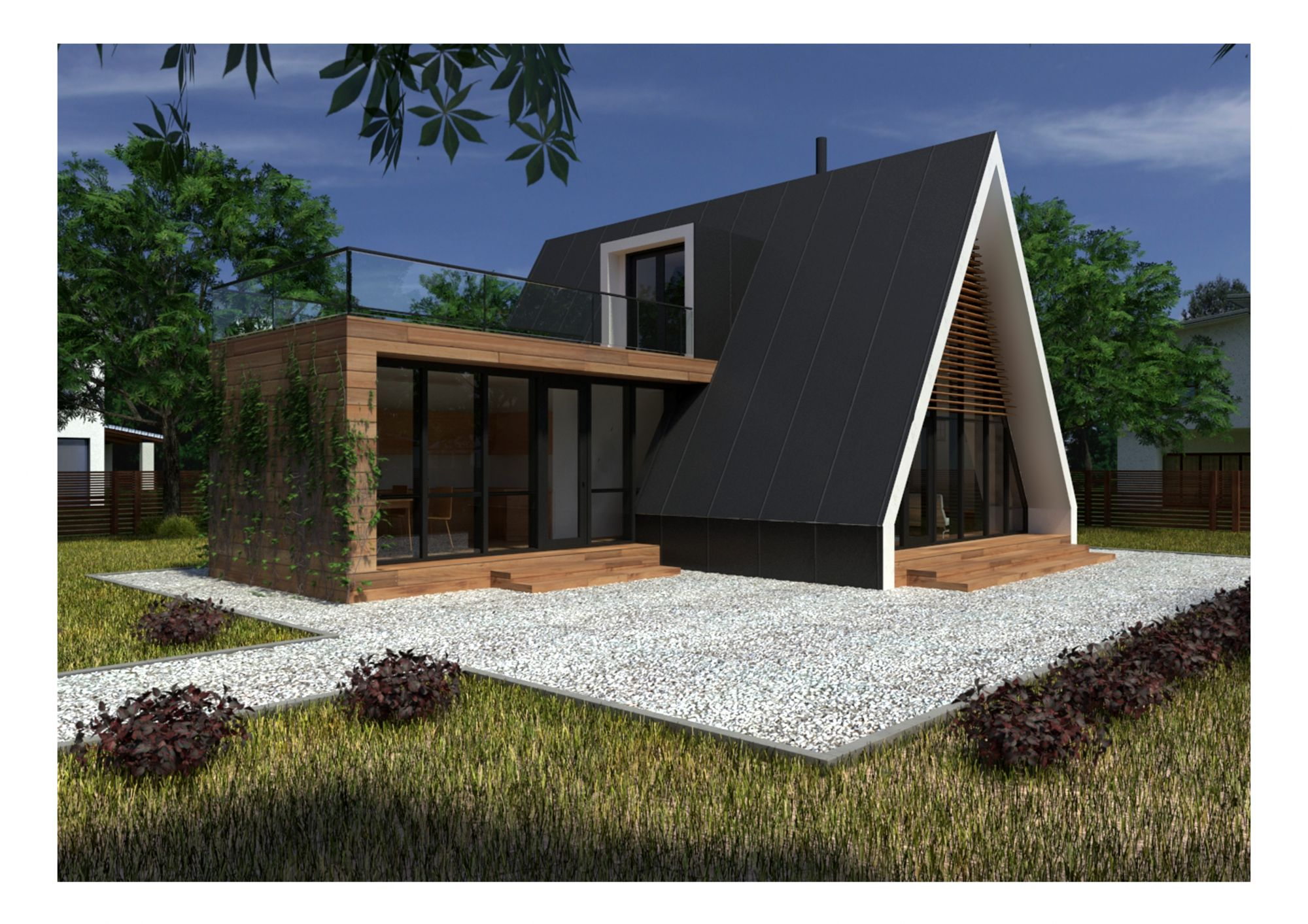 Contemporary house plan bz 14 130m2 for Modern house 80m2