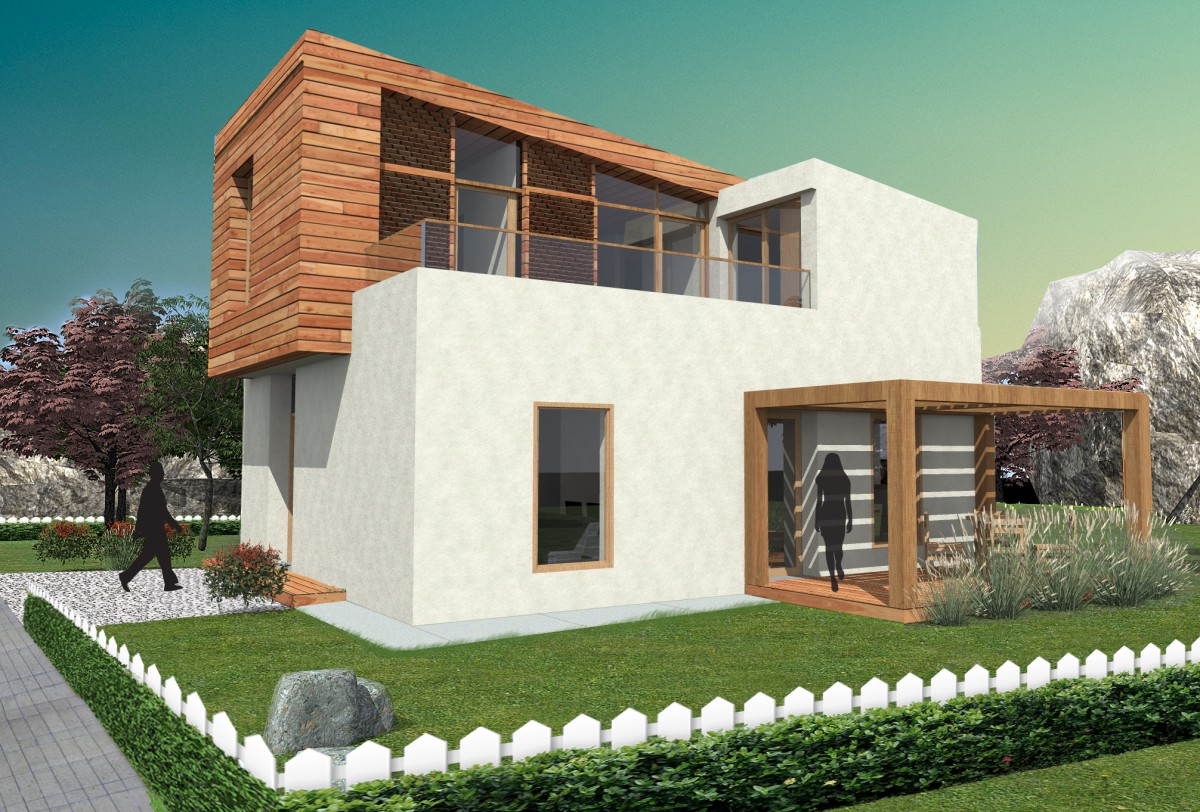 Très Plan maison contemporaine BZ-16-130m2 KV92