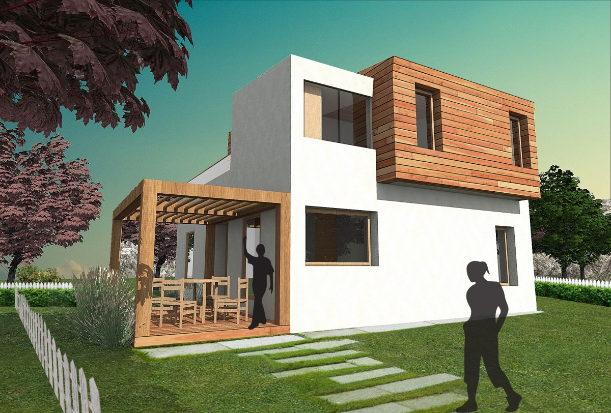 Plan maison contemporaine bz 16 130m2 for Agrandissement maison besoin architecte
