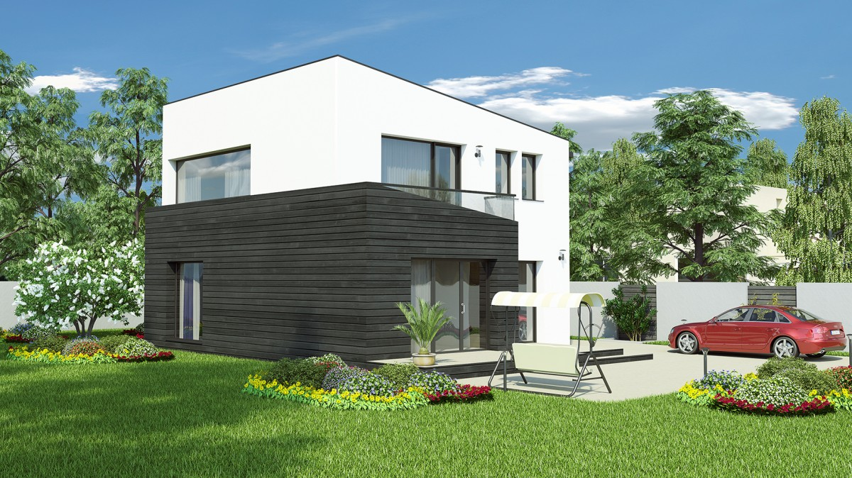 Plan maison contemporaine bc 22 135m2 for Plans maisons contemporaines