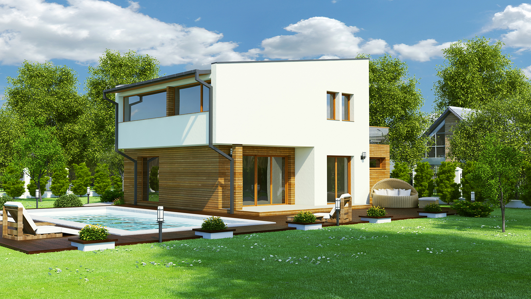 Plan maison contemporaine bc 25 156m2 for Plans maisons contemporaine